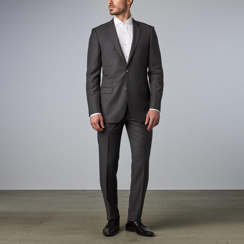 Bella Vita // Slim-Fit Suit // Charcoal Sharkskin (US: 36S