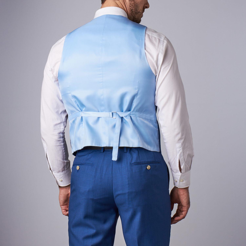 Bella Vita 3 Piece Slim Fit Suit Laser Blue Us 36s