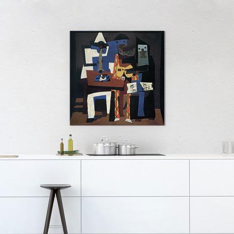 "Three Musicians // Pablo Picasso // 1921 (18""W x 18""H x 0.75""D)"