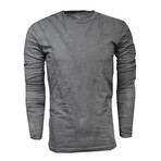 Crew Neck Long-Sleeve Tee // Vintage Gray (XL)