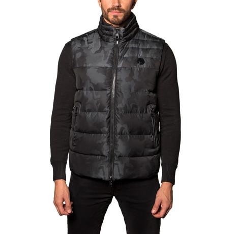 Aspen Down Puffer Vest // Black Camo (S)