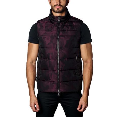 Aspen Down Puffer Vest // Burgundy Camo (S)