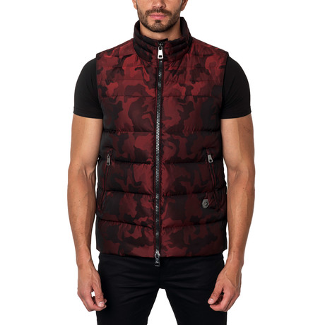 Aspen Down Puffer Vest // Red Camo (S)