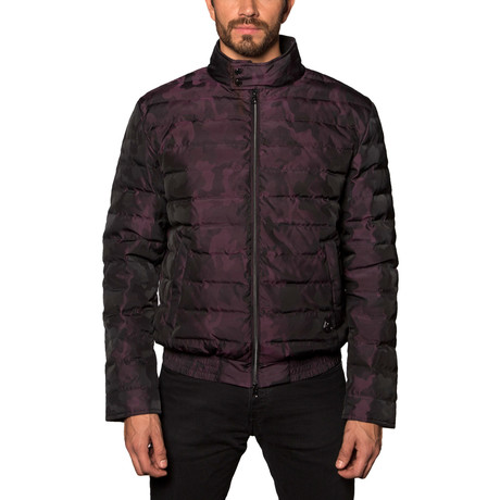 Chicago Lightweight Down Puffer // Burgundy Camo (S)