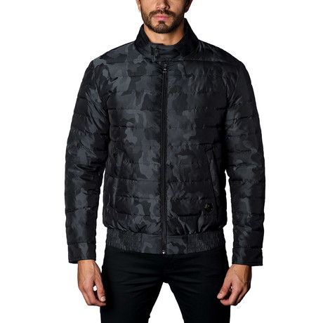 Chicago Lightweight Down Puffer // Black Camo