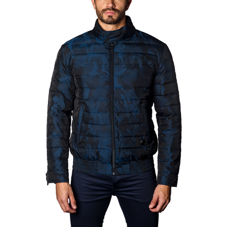 Chicago Lightweight Down Puffer // Navy Camo (L)