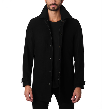 Los Angeles Wool Car Coat // Black (S)
