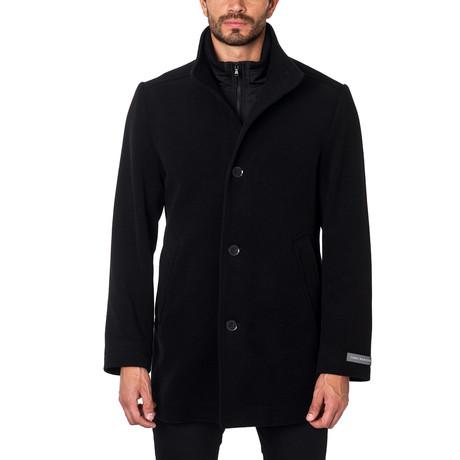 Milan Cashmere Blend Overcoat // Black
