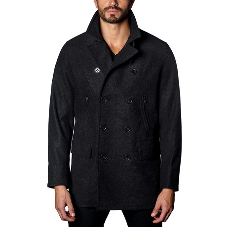 Wool Peacoat // Charcoal (S)