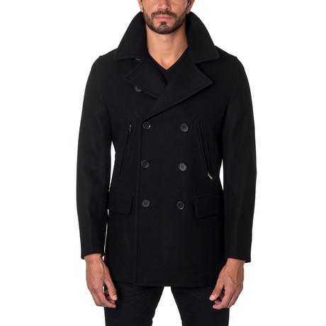 Seattle Wool Peacoat // Black