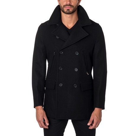 Seattle Wool Peacoat // Black (S)