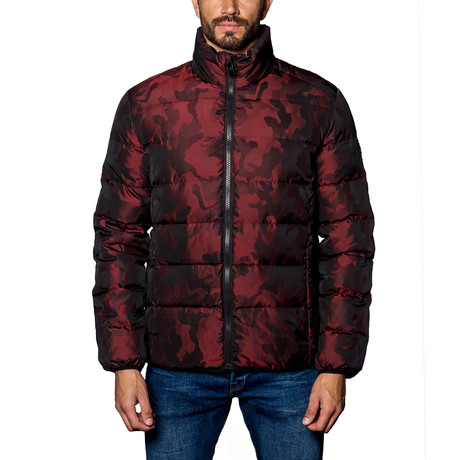 Geneva Down Puffer // Red Camo (S)
