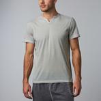 Short-Sleeve V-Neck // Light Blue (S)