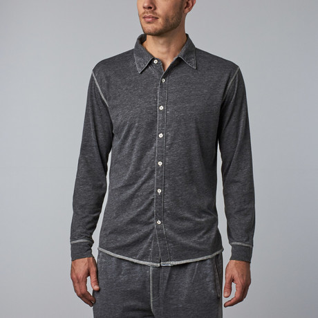 Long-Sleeve Button-Down // Black (S)