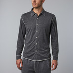 Long-Sleeve Button-Down // Black (2XL)
