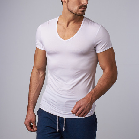 SilverPlus V-Neck Shirt // White (S)