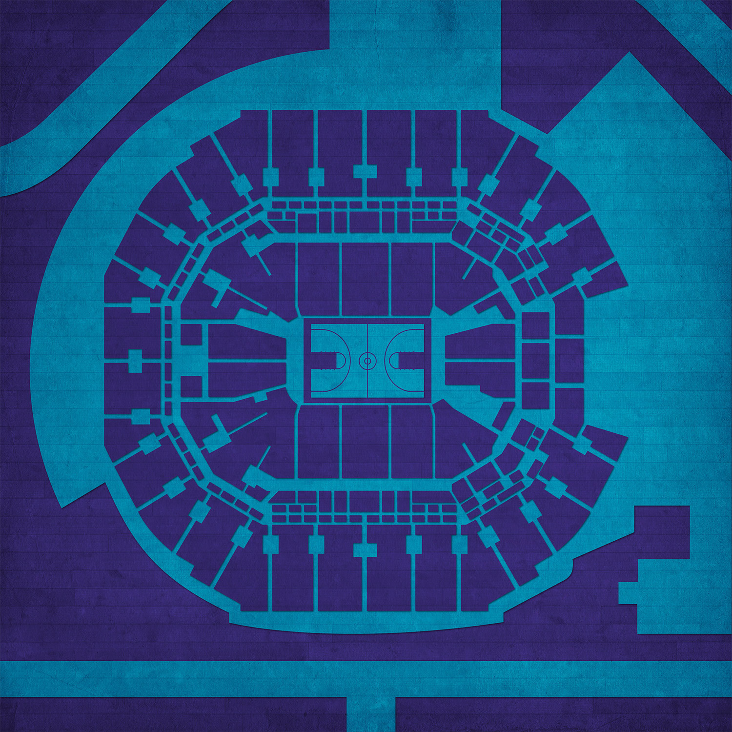 """Time Warner Cable Quote: Time Warner Cable Arena (Unframed // 12""""W X 12""""H"""