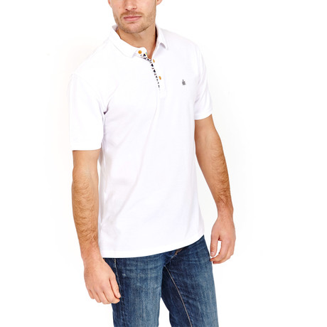 St Lynn // Casey Polo Shirt // White