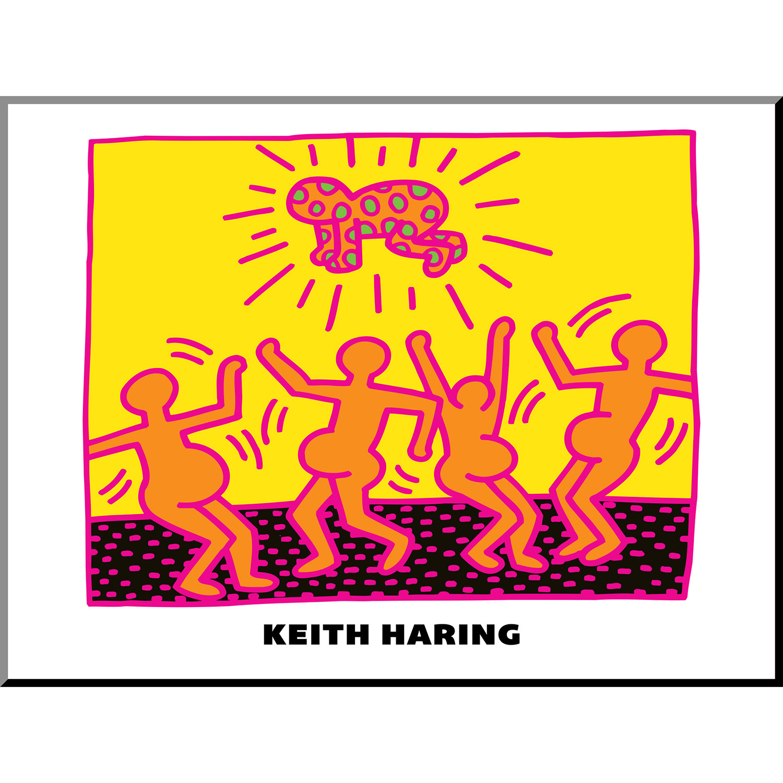 Untitled Pop Art (Holy) (Black Wood Frame + Matte) - Keith Haring ...