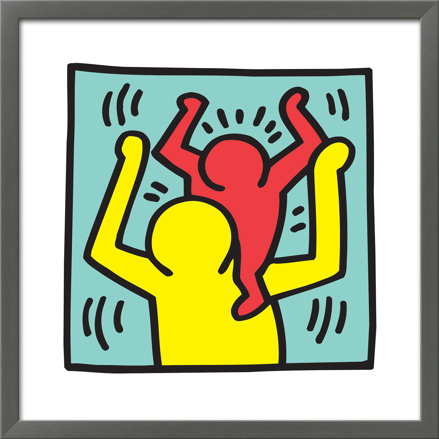 Untitled Pop Art (Family) (Wood Mounted Print) - Keith Haring ...