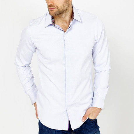 Kellman Pin Stripe Button-Up Shirt // White