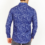 Grant Paisley Button-Up Shirt // Blue (M)