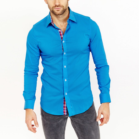 Neal Button-Up Shirt // Turquoise