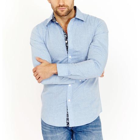 Ernie Button-Up Shirt // Slate Blue