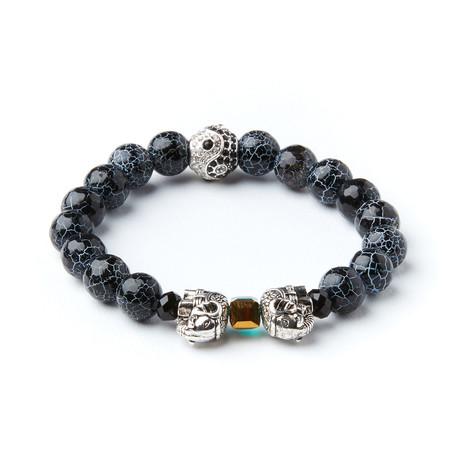 Yin + Yang Elephant Bracelet // Dinosaur Egg Stones
