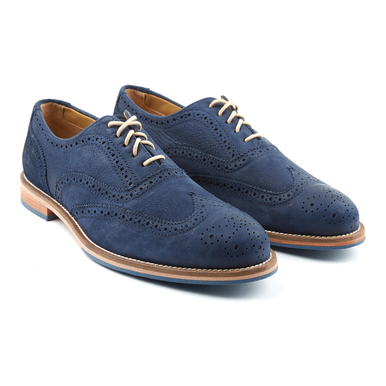 Charlie Suede Wingtip Oxford // Blue
