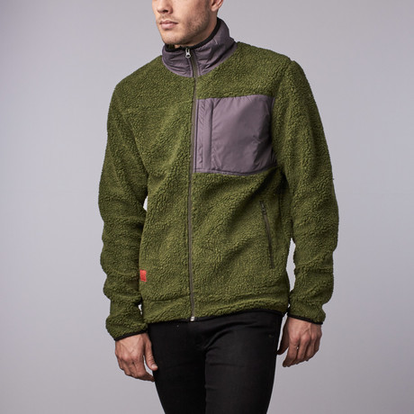 Steamboat Sherpa Fleece // Olive