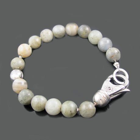 CZ Bead Bracelet // Labradorite