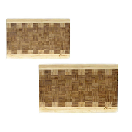 EarthChef Bamboo Chop block // 2 Piece Set