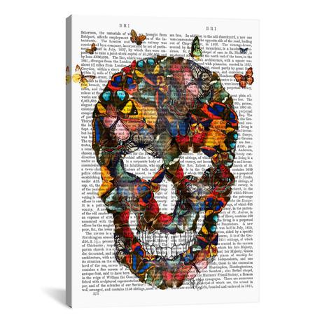 """Butterfly Skull // Fab Funky (12""""W x 18""""H x 0.75""""D)"""