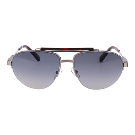 E. Zegna // Corti Sunglasses // Red Tortoise + Grey + Silver