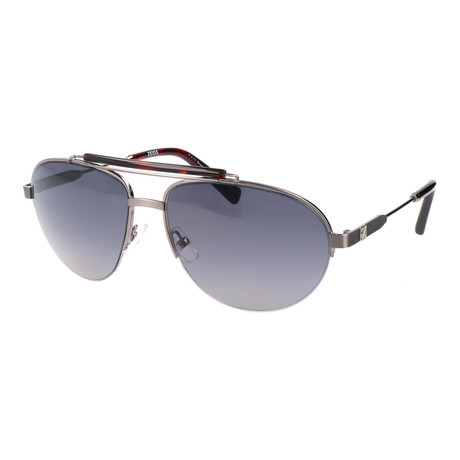 Men's EZ0007 Sunglasses // Shiny Dark Ruthenium + Smoke