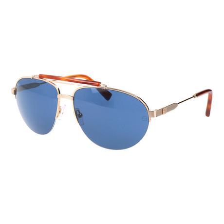 Men's EZ0007 Sunglasses // Tortoise + Blue + Silver
