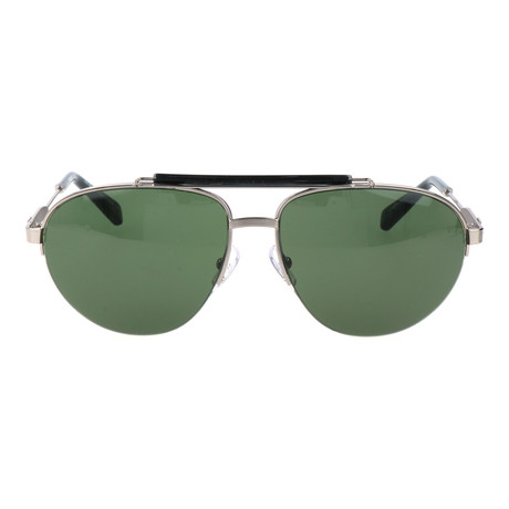 Ermenegildo Zegna // Men's EZ0007 Sunglasses // Shiny Light Ruthenium