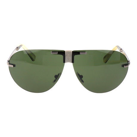 EZ0015 Men's Sunglasses // Olive + Silver
