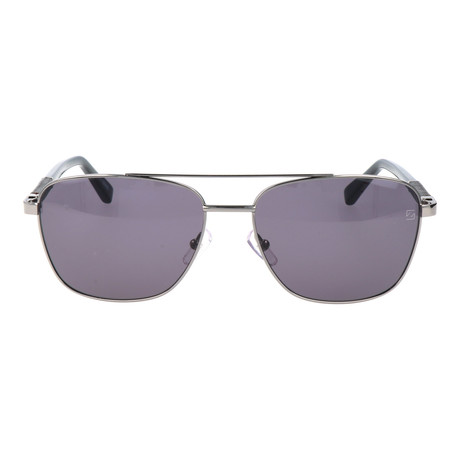 E. Zegna // Fierro Sunglasses // Grey + Silver