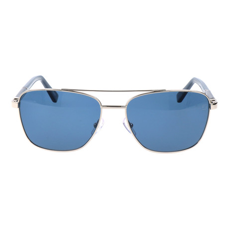 E. Zegna // Fierro Sunglasses // Blue + Silver