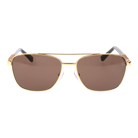 E. Zegna // Fierro Sunglasses // Brown + Gold