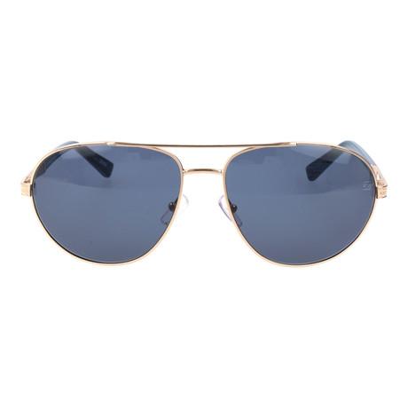 Uberti Sunglass // Blue + Silver