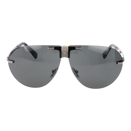 E. Zegna // Neroni Sunglass // Grey + Silver
