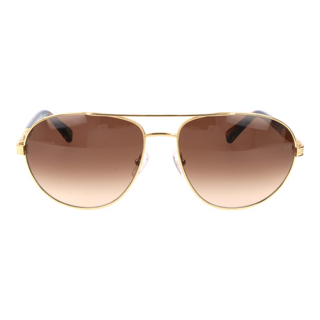 E. Zegna // Soriano Sunglasses // Brown + Gold