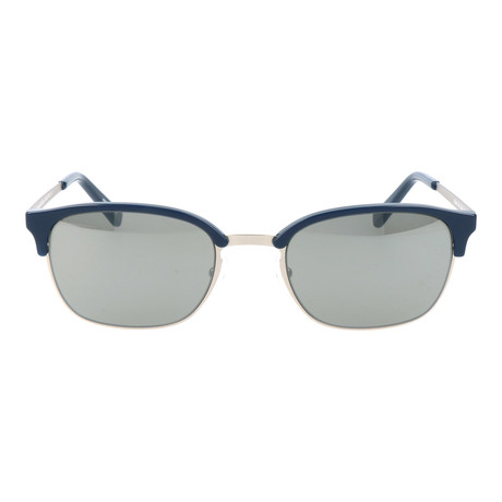 EZ0047 Sunglasses // Navy + Silver