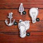 Mo Ganji's Inspired Continuous Line // Pack of 4