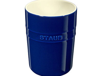 INOpets.com Anything for Pets Parents & Their Pets Staub Professional Cooking Ceramics Utensil Holder // Dark Blue