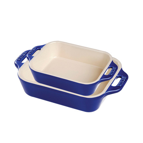 Rectangular Baking Dish // Dark Blue // Set of 2