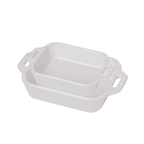 Rectangular Baking Dish // White // Set of 2